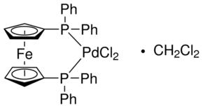 Sigma-Aldrich/[1,1′-Bis(diphenylphosphino)ferrocene]dichloropalladium(II), complex with dichloromethane/379670-1G/
