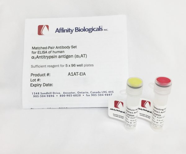 affinity biologicals/Alpha-1-Antitrypsin A1AT Paired Antibody Set/A1AT-EIA