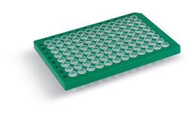 Bio-Rad/Hard-Shell<sup>®</sup> 96-Well PCR Plates, high profile, semi skirted, green/clear #HSS9641/HSS9641/