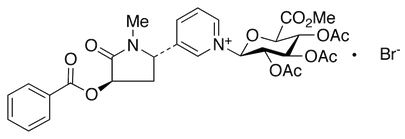 Medicalisotopes/trans-3'-Benzoyloxy cotinine 2,3,4-tri-O-acetyl-N-β-D-glucuronide methyl ester bromide/1 mg/63103
