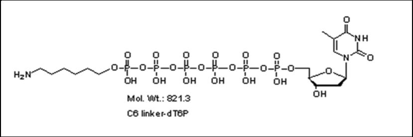 Mychem/6-aminohexyl-2\'-deoxythymidine-5\'-hexylphosphate/A-1015/1 µmole