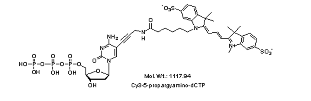 Mychem/Cy3-5-propargylamino-2\'-deoxycytidine-5\'-Triphosphate/D-1006/1 µmole