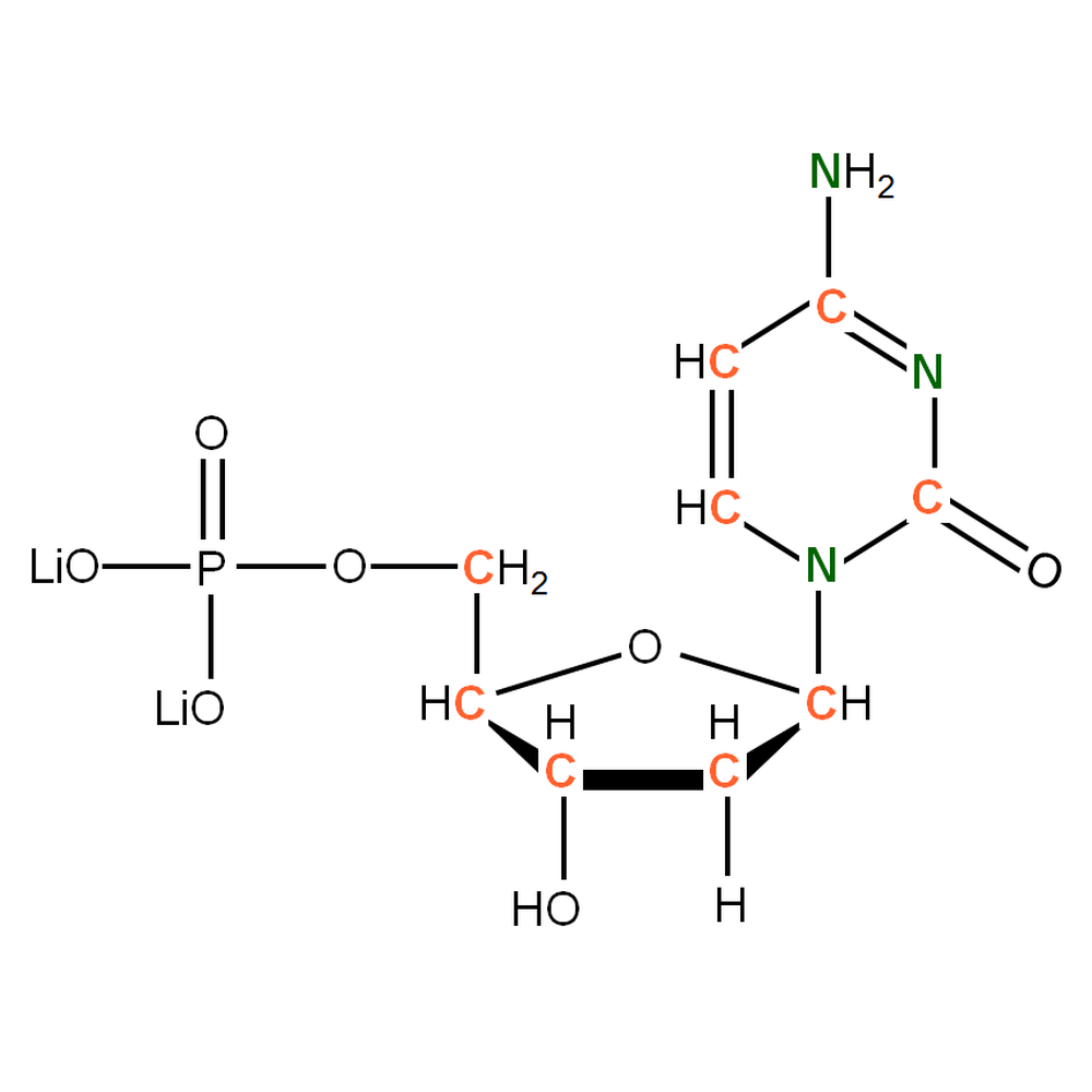 silantes/13C 15N Deoxycytidine 5'- monophosphate lithium salt  solution/50 milligram(s)/122603802